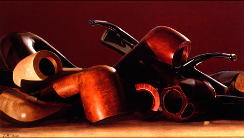 Still Life Painting - Pipes by Toby Boothman