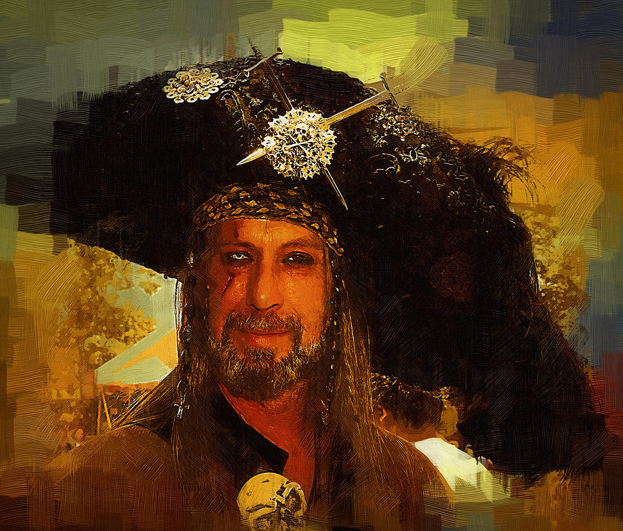 Pirate Painting - Pirate by Clarence Alford