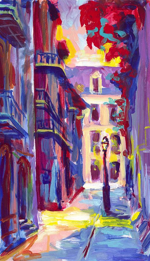 Pirates Painting - Pirates Alley New Orleans by Saundra Bolen Samuel