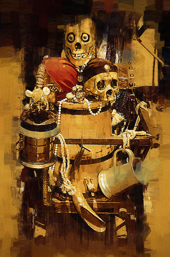 Pirate Painting - Pirates Loot by Clarence Alford