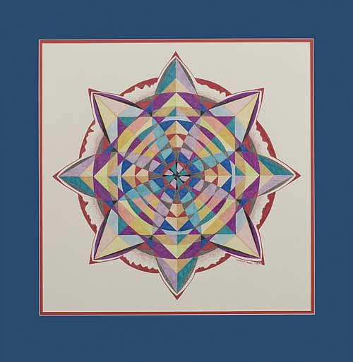 Mandala Painting - Pirouette by Mark Cohen