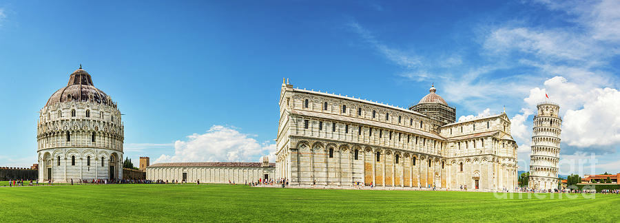 Pisa Photograph - Pisa Panorama by Delphimages Photo Creations