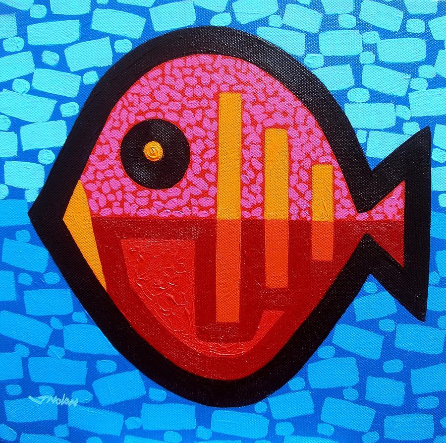 Modern Painting - Pisces 4 by John  Nolan