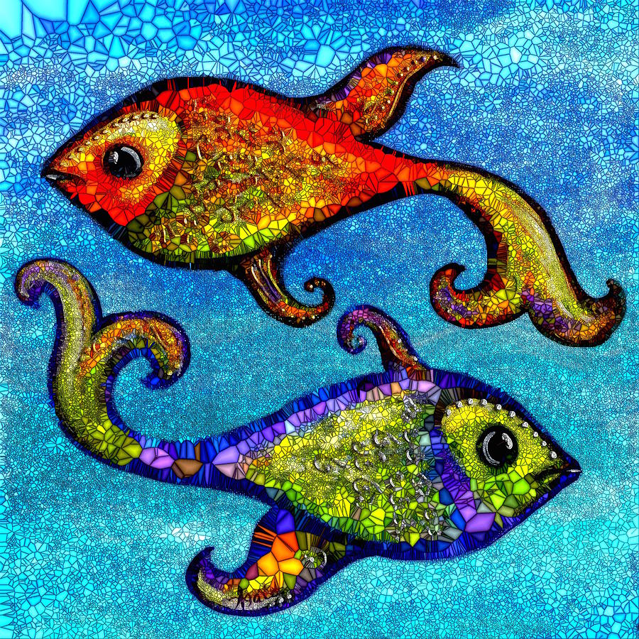 Image result for pisces fish painting