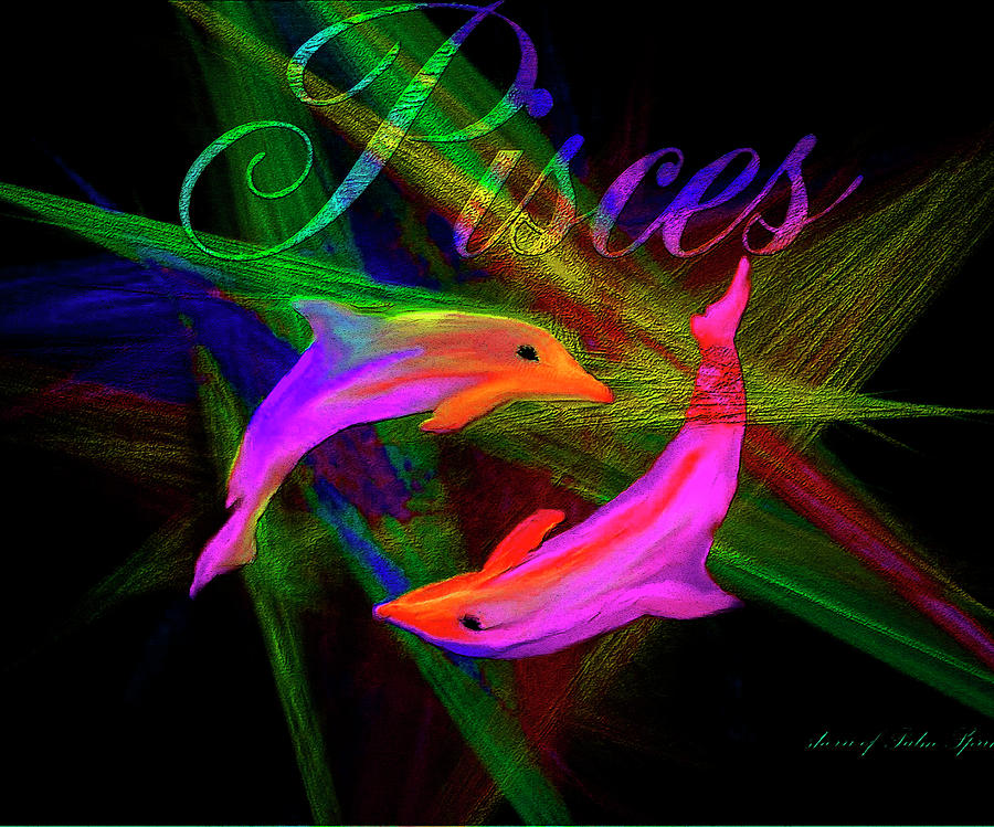 Pisces Digital Art - Pisces, By Sherrs Of Palm Springs by Sherris - Of Palm Springs