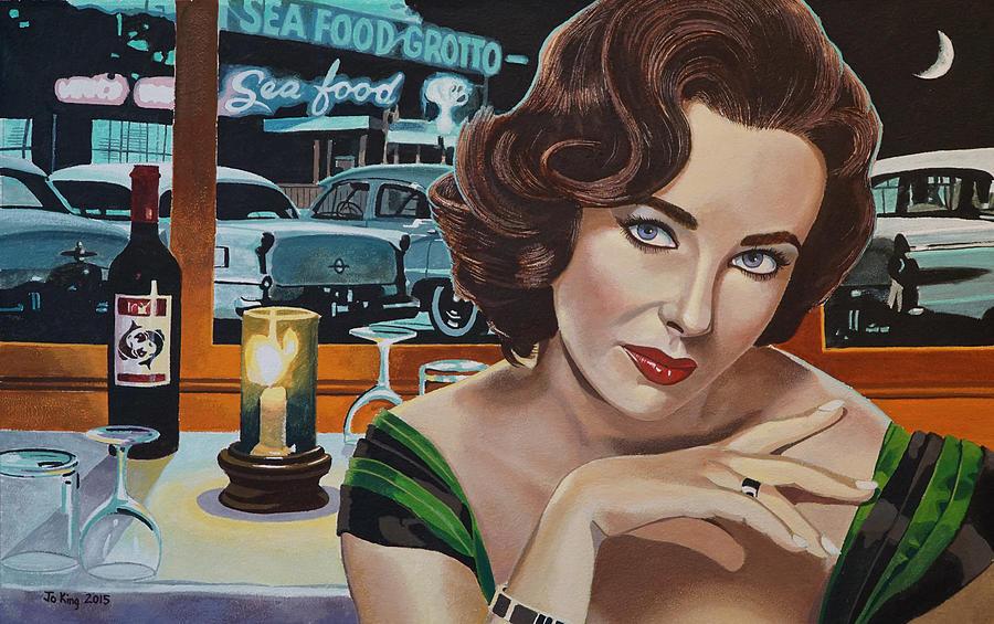 Elizabeth Taylor Painting - Pisces - Elizabeth Taylor by Jo King