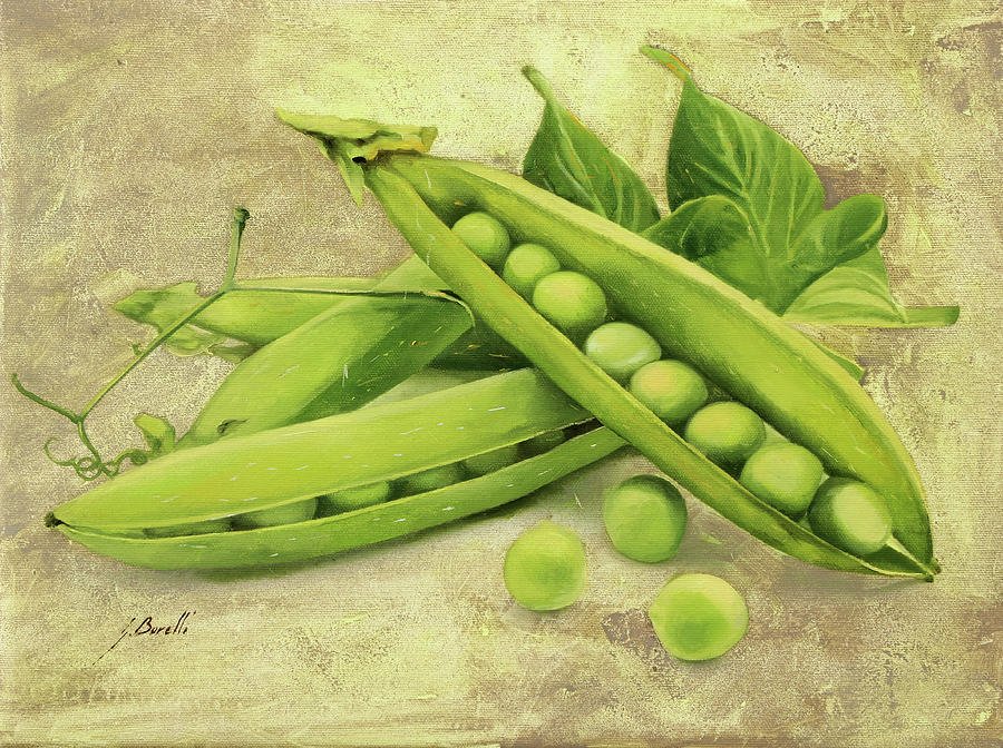 Pea Painting - Piselli by Guido Borelli