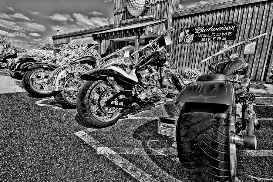 Motor Cycle Photograph - Pit Stop by Ches Black