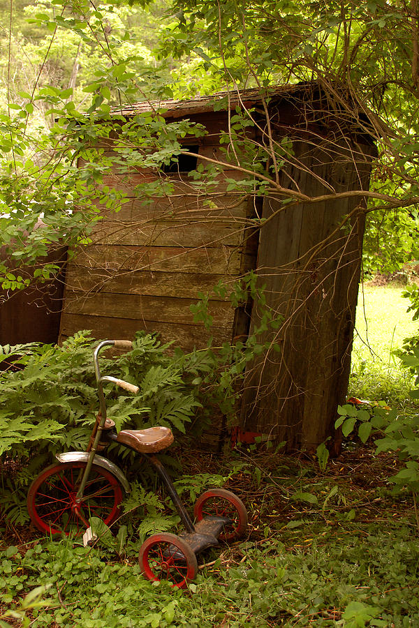 Outhouses Photograph - Pit Stop by Linda McRae