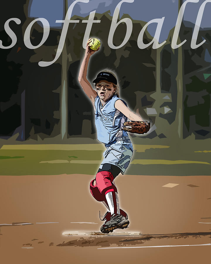 Softball Photograph - Pitcher by Kelley King
