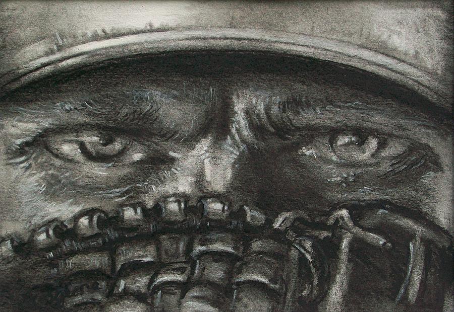 Baseball Drawing - Pitchers Eyes by Tom Forgione
