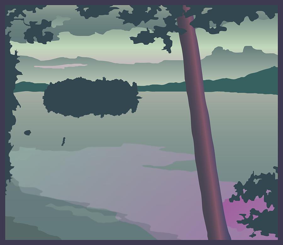 Lake Winnipesaukee Painting - Pitchwood Island by Marian Federspiel