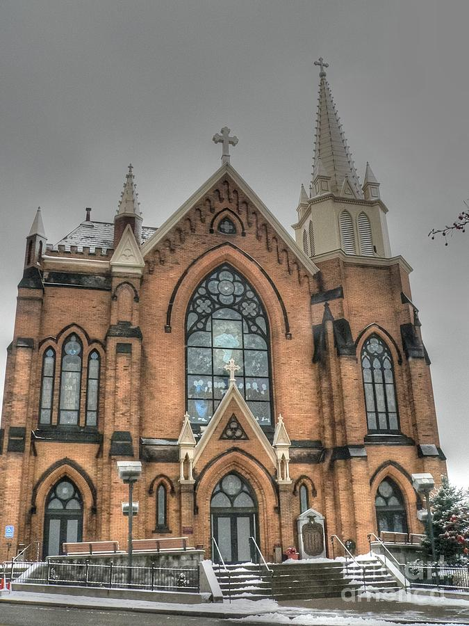 Catholic Church Photograph - Pittsburgh Cathedral by David Bearden