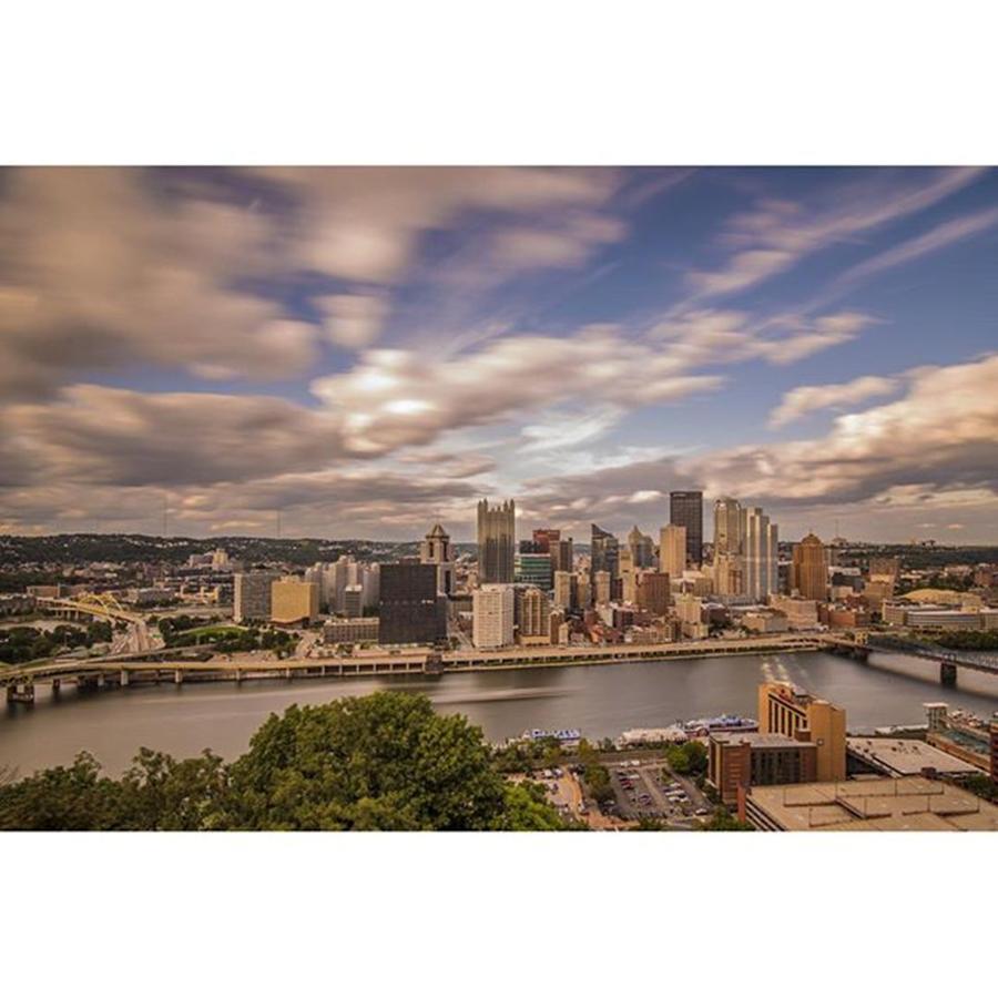 Bridge Photograph - Pittsburgh Long Exposure Skyline. The by David Haskett II