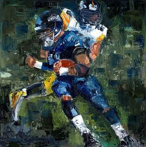 Pittsburgh Steelers Seattle Seahawks Prints Painting by Superbowl  Paintings medium print
