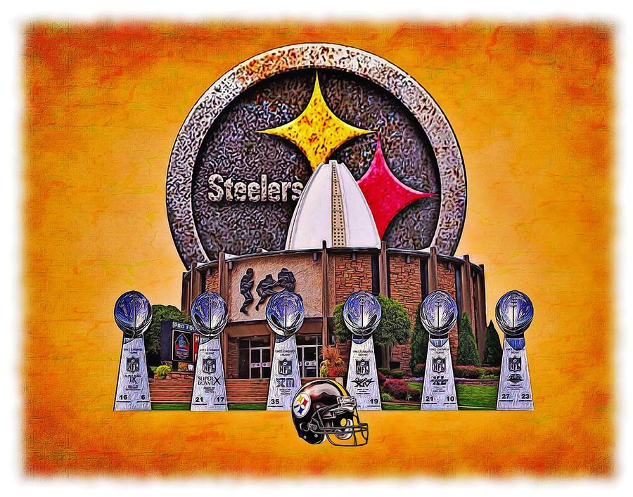Pittsburgh Digital Art - Pittsburgh Steelers Super Bowl Championships by Charles Ott