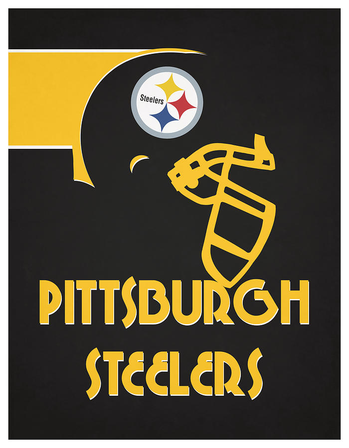 Steelers Mixed Media - Pittsburgh Steelers Team Vintage Art by Joe Hamilton