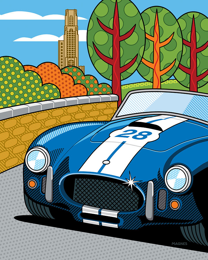 Graphic Digital Art - Pittsburgh Vintage Grand Prix by Ron Magnes