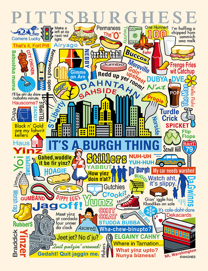 Pittsburgh Digital Art - Pittsburghese by Ron Magnes