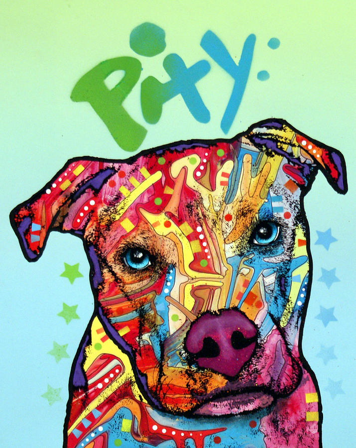 Dog Painting - Pity by Dean Russo Art