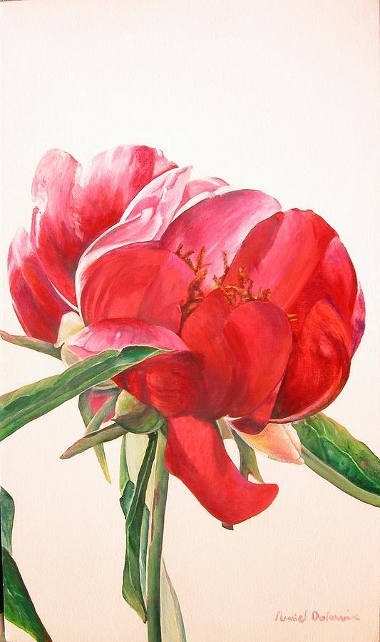 Flower Painting - Pivoine 2 by Muriel Dolemieux