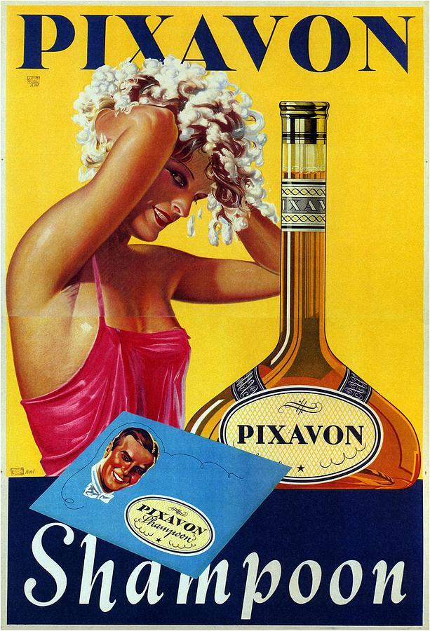 Pixavon Shampoon - Austria - Vintage Advertising Poster Mixed Media