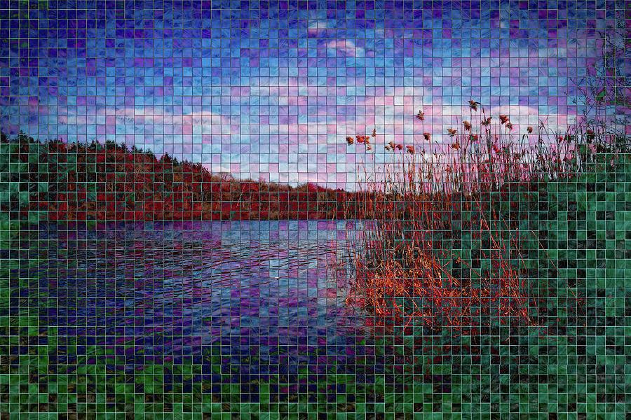 Lake Digital Art - Pixel Lake by Chris Hood