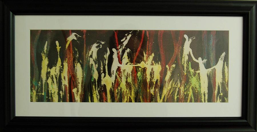 Abstract Painting - Pixies Dancing till The Midnight Hour by Henny Dagenais