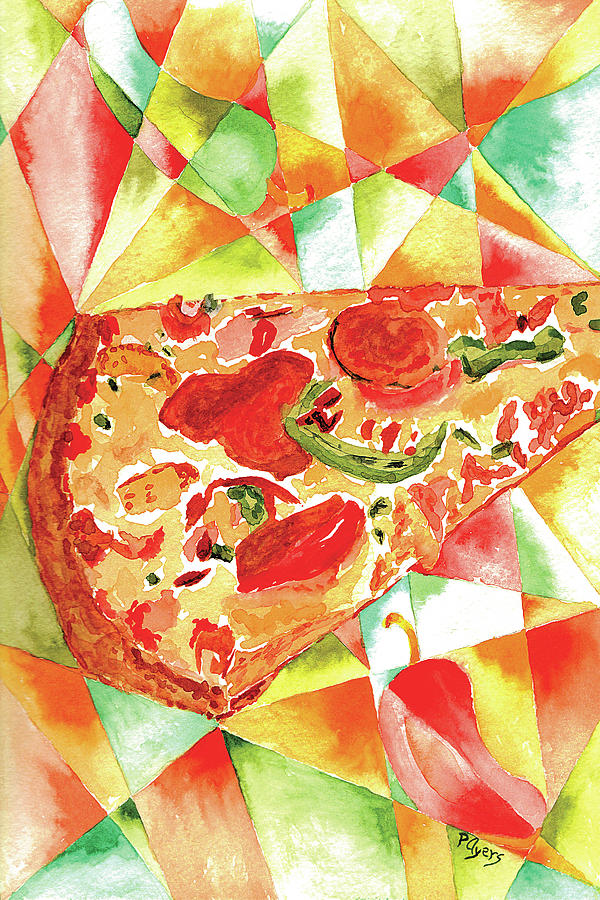 Watercolor Painting - Pizza Pizza by Paula Ayers
