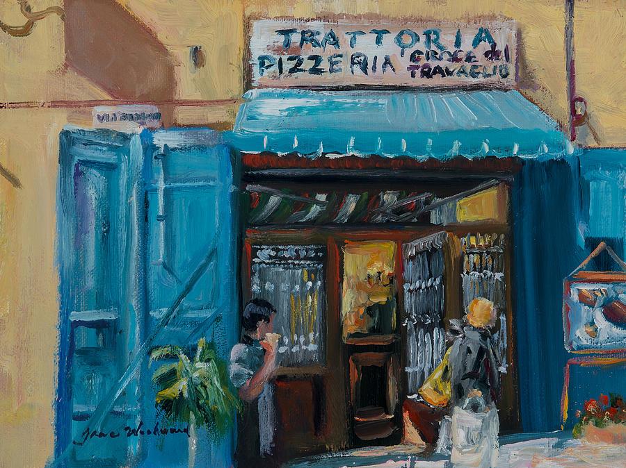 Italian Pizzeria Painting - Pizzaria - Cortona by Jane Woodward