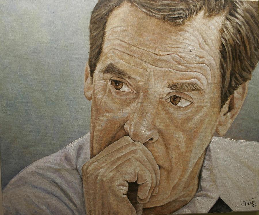 Peter Jennings Painting - PJ by Jason  Swain
