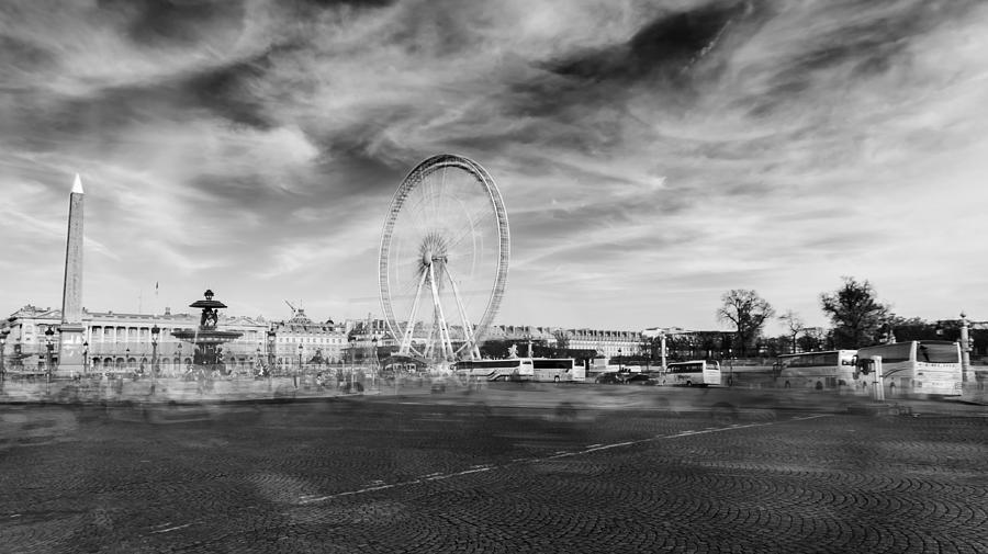 Place De La Concorde In Bw Photograph