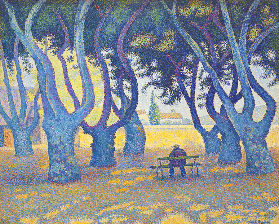 Paul Signac Painting - Place Des Lices St Tropez by Paul Signac