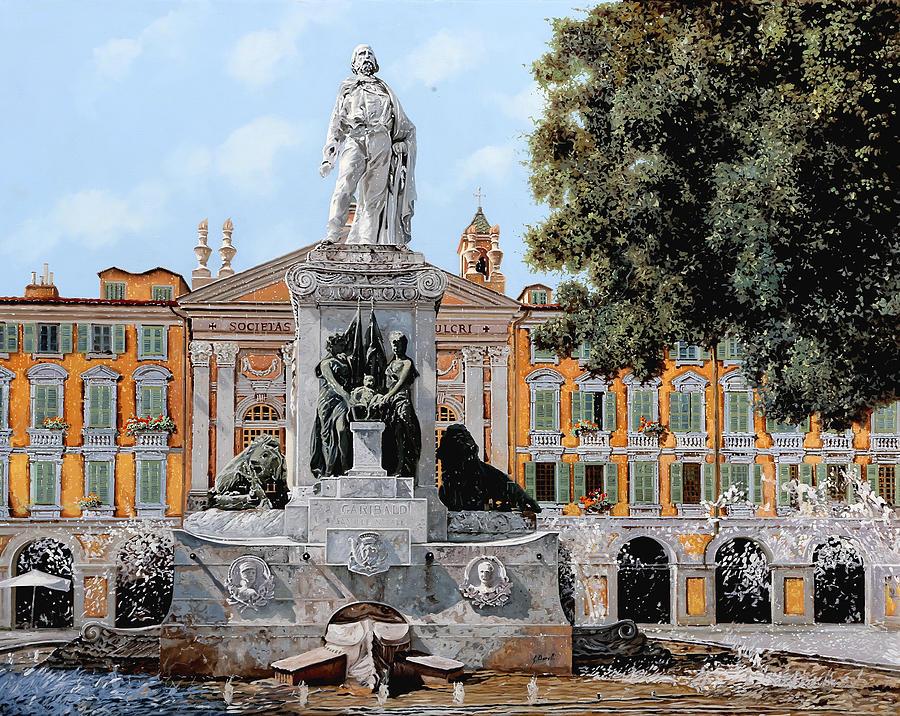 Garibaldi Painting - Place Garibaldi in Nice  by Guido Borelli