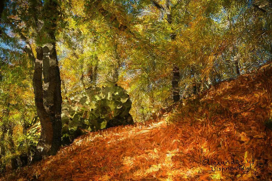 Landscape Painting - Place Of Power by Alexander Vishnevsky