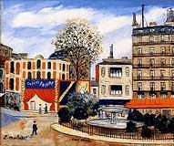 Place Pigale a Paris Painting by Elysee MACLET