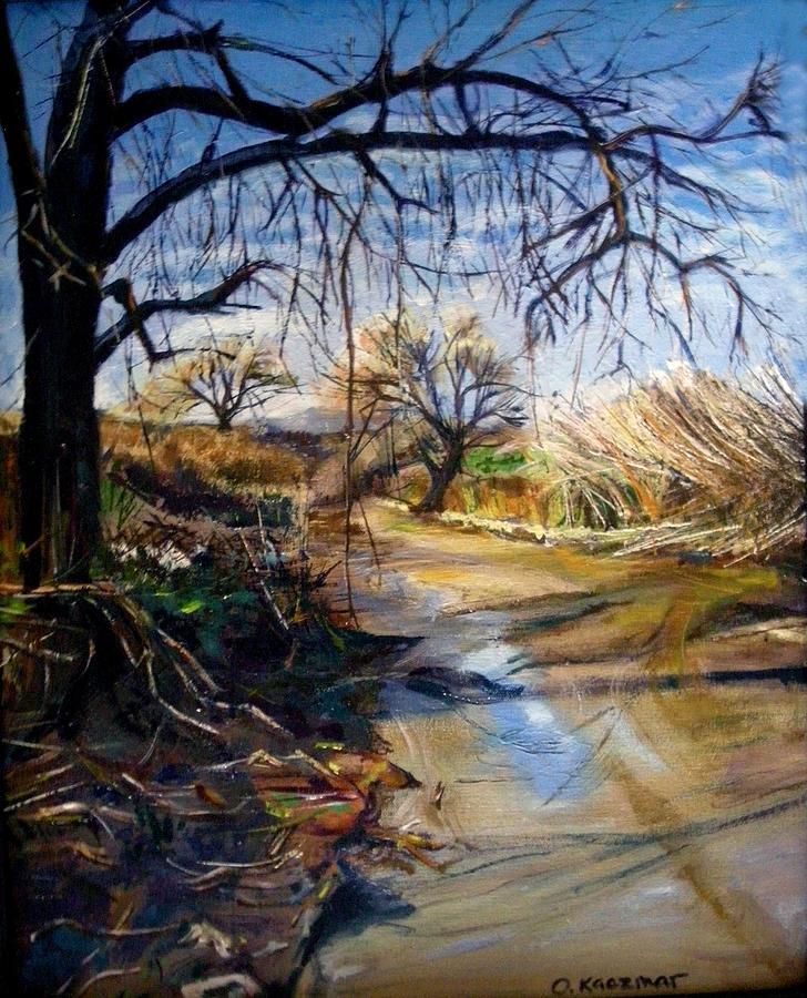 Landscape Painting - Placerita Creek 1 by Olga Kaczmar