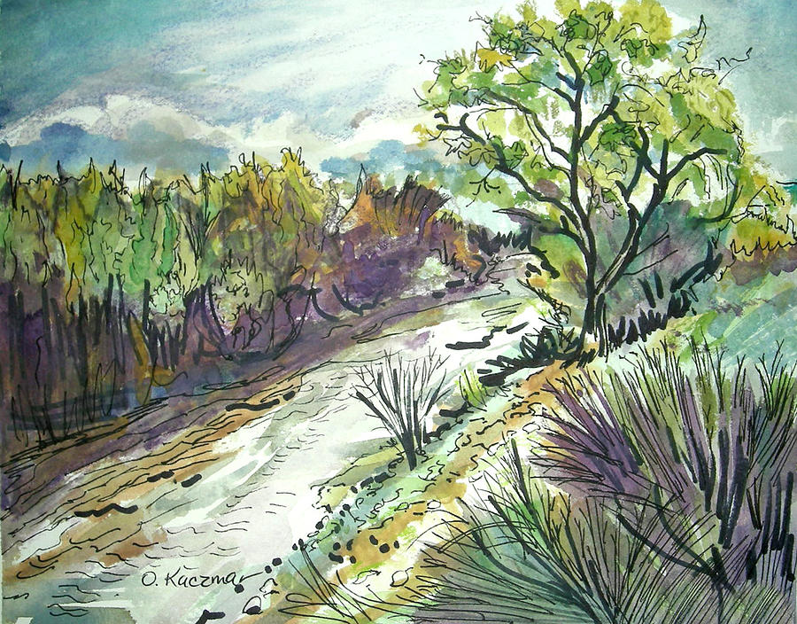 Landscape Painting - Placerita Creek 3 by Olga Kaczmar