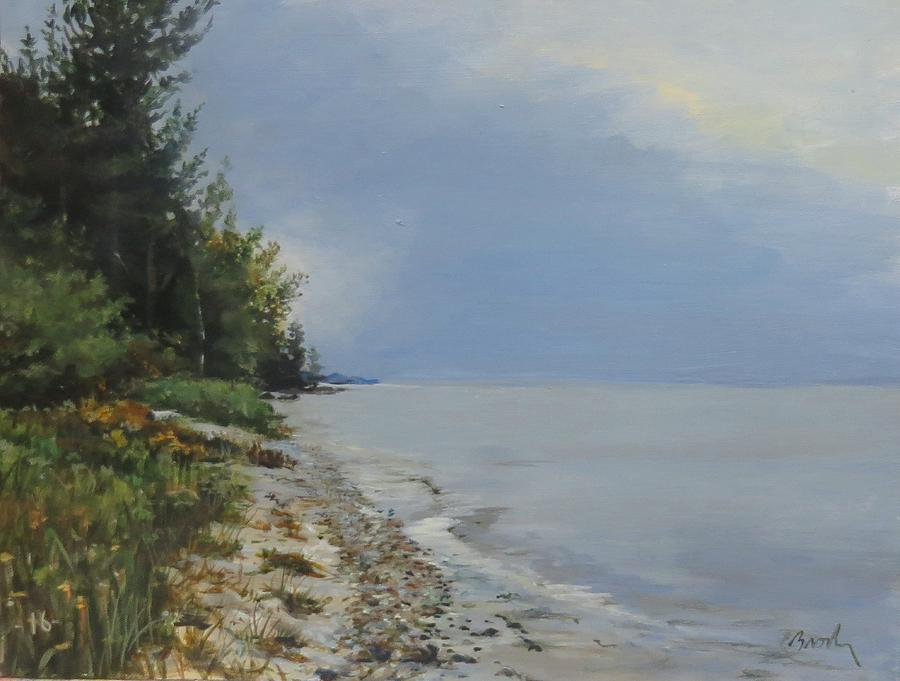 Lake Huron Painting - Places Weve Been by William Brody