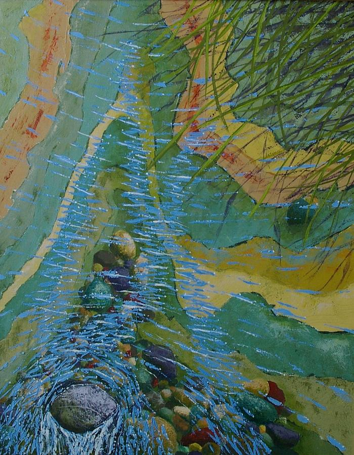Waterscape Painting - Placid Pile-up by Ron Smothers