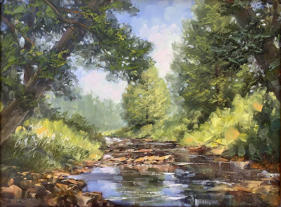 Landscape Painting - Placid Stream by Marty Coulter