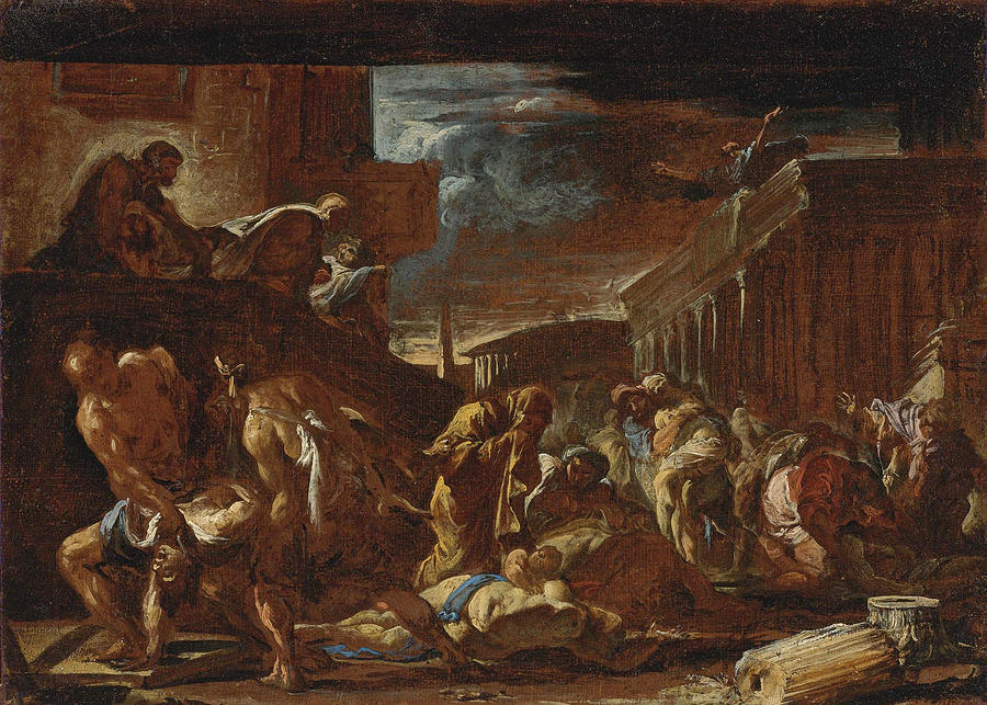 plague of athens painting by neapolitan school