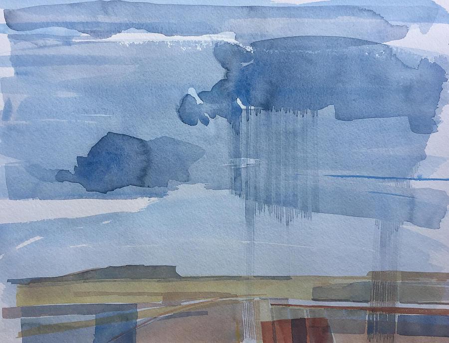 Plain Rain Painting by Vaughan Davies