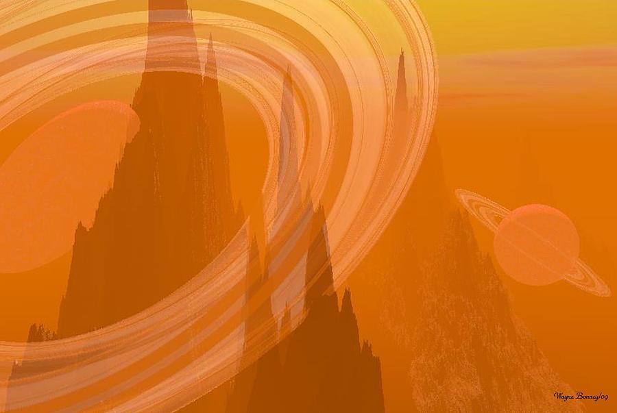 Orange Painting - Planet Citrus by Wayne Bonney