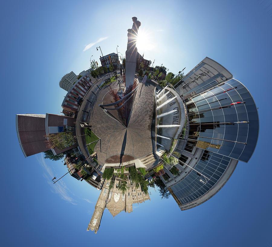 Abstract Photograph - Planet City Hall, Thunder Bay by Jakub Sisak