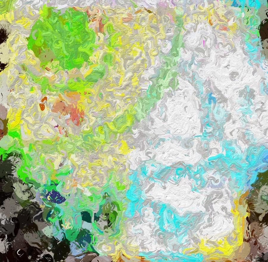 Abstract Photograph - Planet Green by Rita Koivunen
