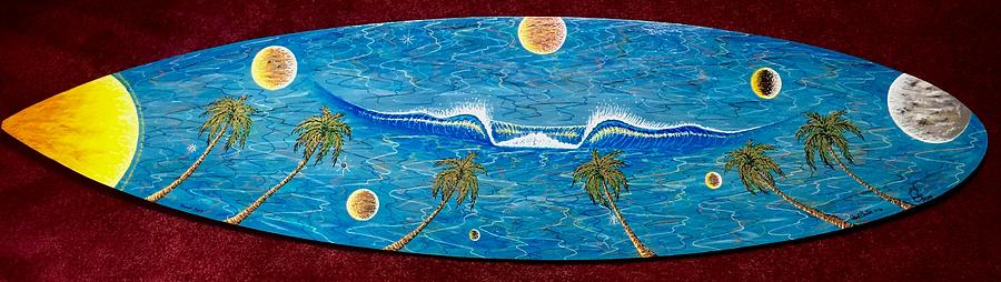 Planet Painting Painting - Planet Surf  by Paul Carter