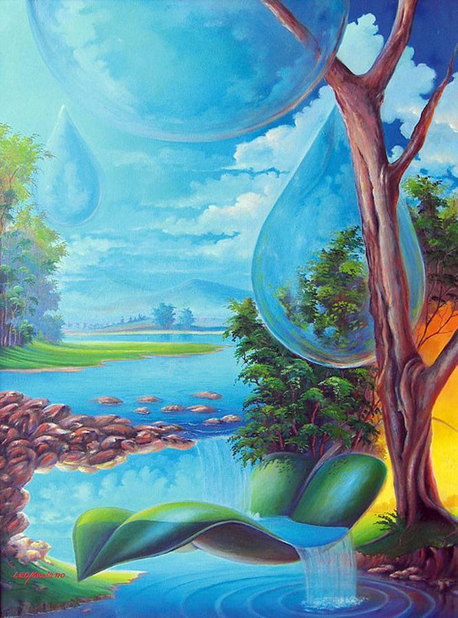Planeta Agua Painting by Leomariano artist BRASIL