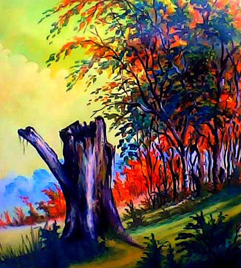 Landscape Painting - Planeta Verde by Leomariano artist BRASIL