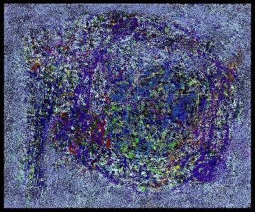 Abstract Painting - Planetarium by Peter Schwartz